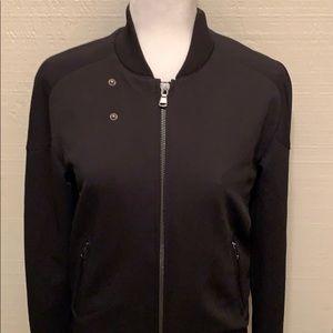 Zara Man Black Zip Up Bomber Jacket